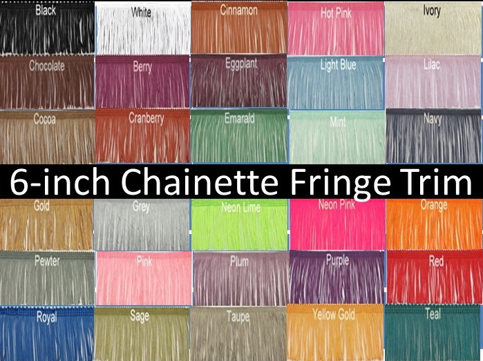 6-inch Chainette Fringe Trim-31 Colors