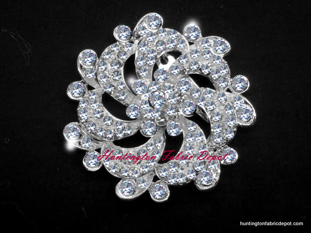 Brilliant Clear Rhinestone Brooch