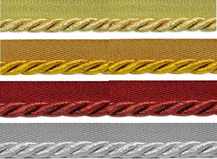 "1/4"" Metallic Lip Cord Trims"
