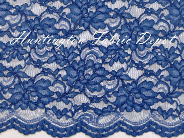Royal Scalloped Corded Lace Fabric