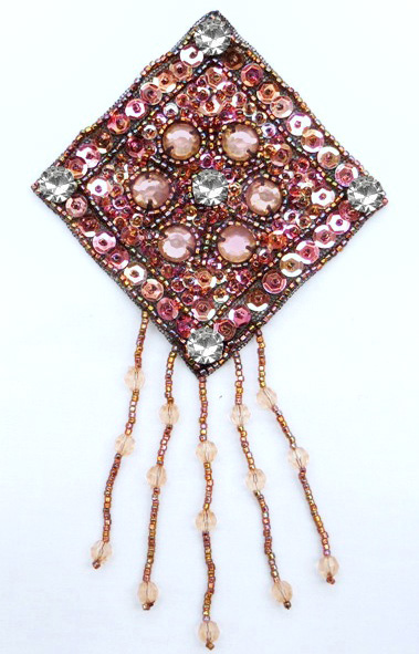 Beaded/Sequin Fringe Applique/Motif