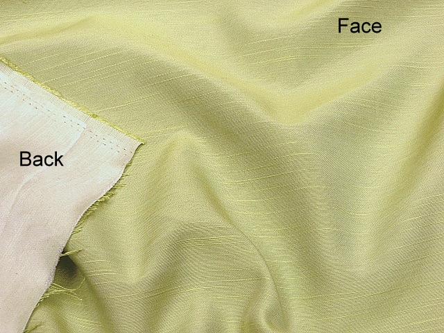 Light Lime Vintage Antique Satin Fabric