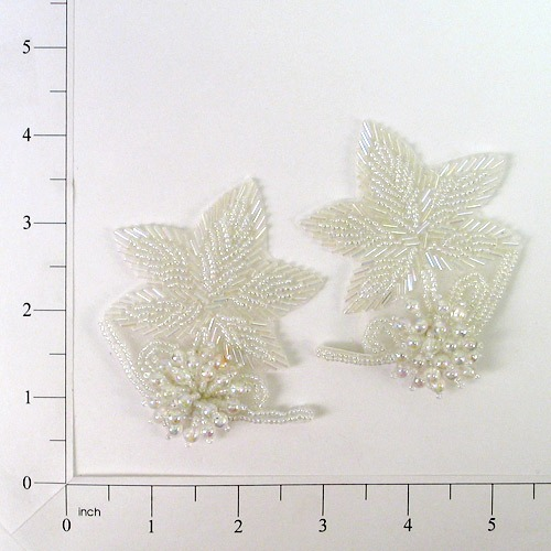 Crystal Aurora Borealis 3D Beaded Flower Applique