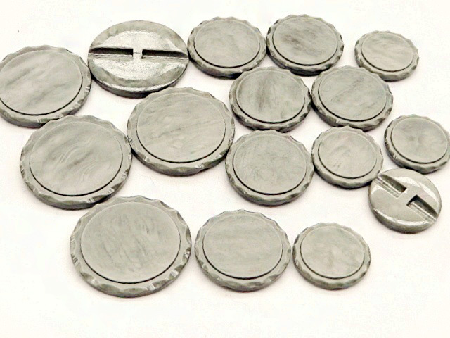 Big Multi Sizes Grey Shank Buttons