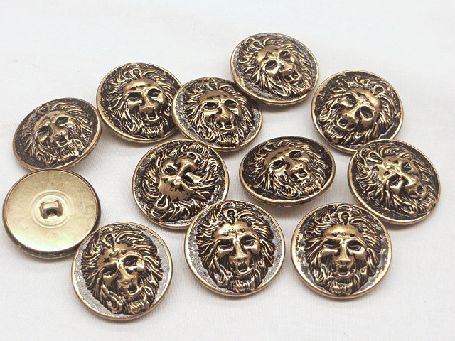 Lion Face all Metal Buttons