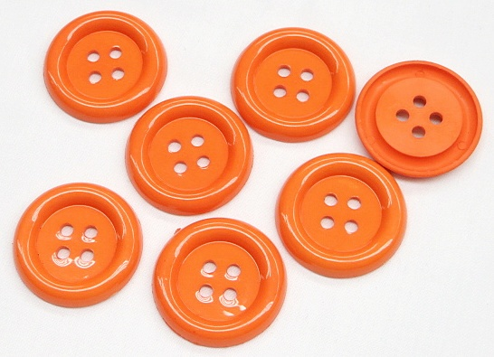 "1.5"" Orange 4-Hole Buttons"