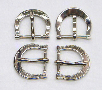 Small Silver Heel Roller Metal Buckle