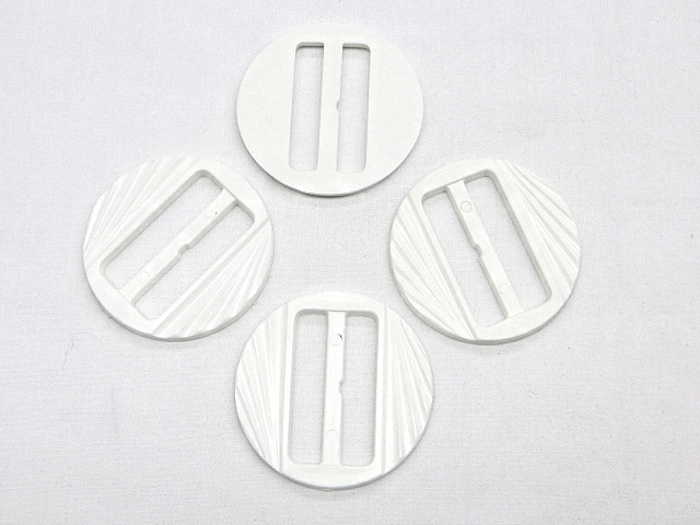 White Round Fashion Buckle