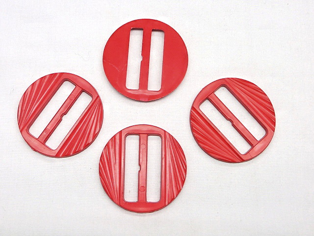 Red Round Fashion Buckle