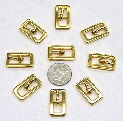 Gold Tone Small Buckles