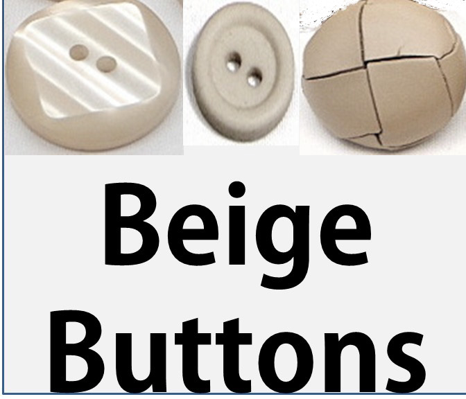 Beige/Natural Buttons