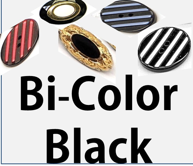 Bi-color Black Buttons
