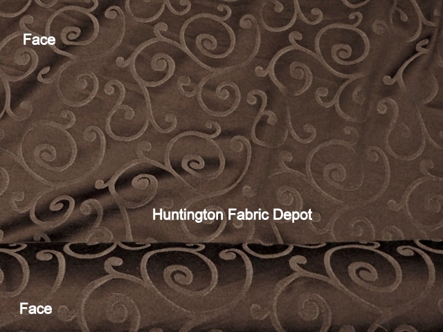 Chocolate/Dark Brown Jacquard-Design Daisy