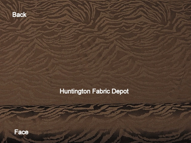 Chocolate/Dark Brown Jacquard-Design Zebra