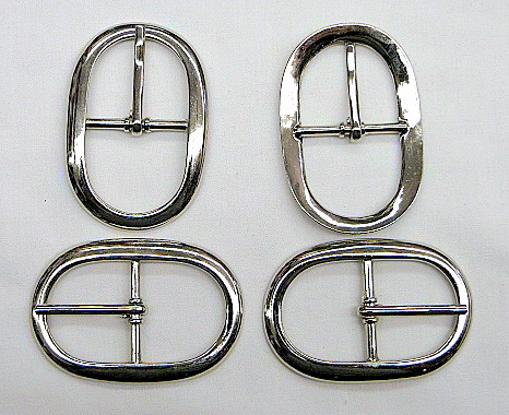 Silver Center Bar Oval Metal Buckle