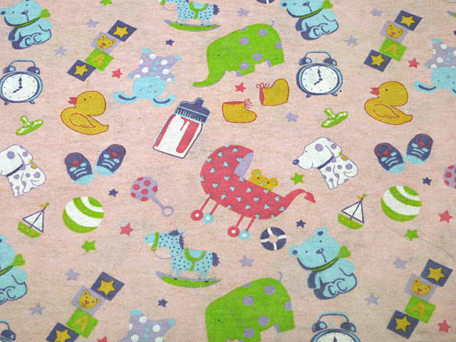 Pink Children's Print Cotton Flannel