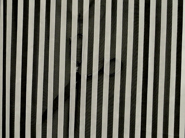 Black & White Striped Chiffon Fabric