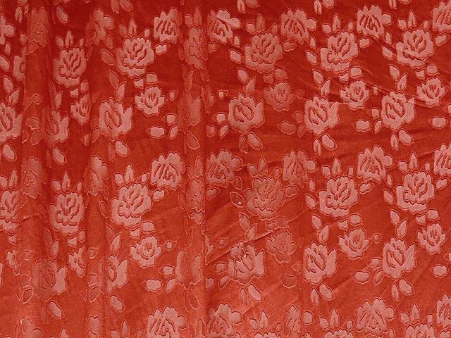 Red Rose Chiffon/Georgette Fabric