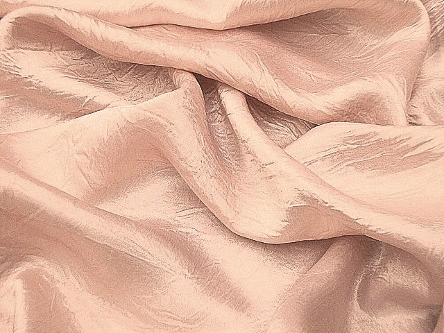 Light Pink Crushed Satin Fabric
