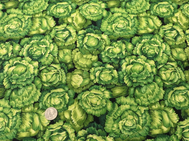 Cabbage Printed Cotton Fabric