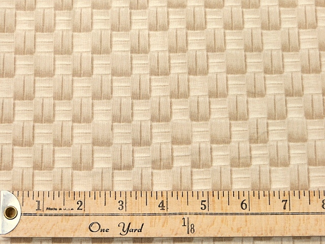Beige/Natural Cotton Print by Timeless Treasures