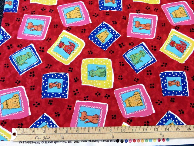 Red Cartoons Print by Blank Quilting