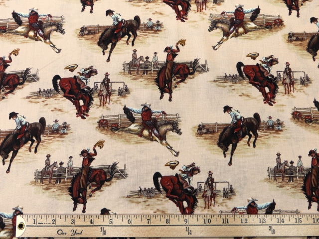 Western Cowboys Print by Blank Quilting