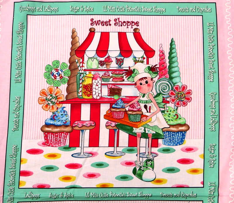 Lil Miss Cutie Patootie's Sweet Shoppe by Quilting Treasures