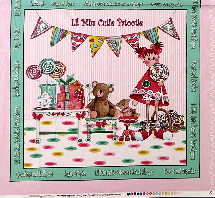 Lil Miss Cutie Patootie by Quilting Treasures