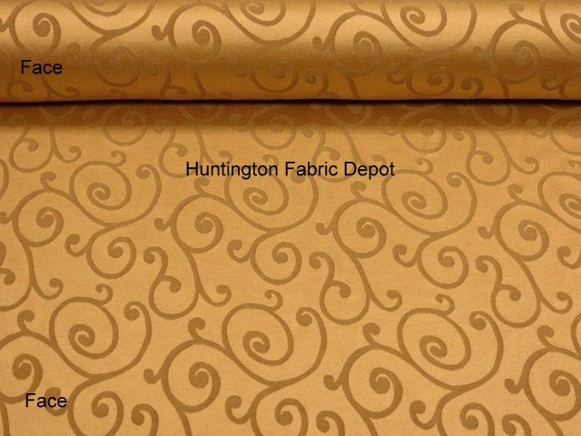Curry/Golden Tan Jacquard-Design Daisy