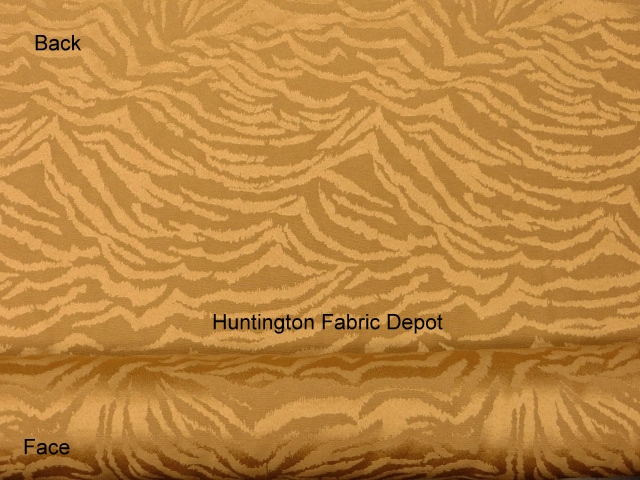 Curry/Golden Tan Jacquard-Design Zebra