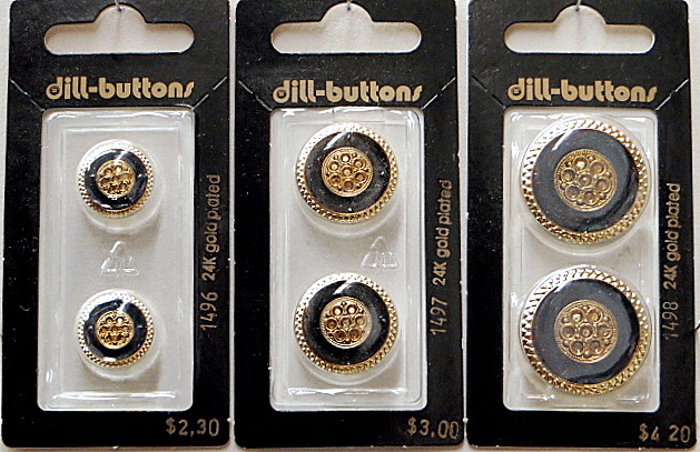 Navy/Gold Ornate Buttons