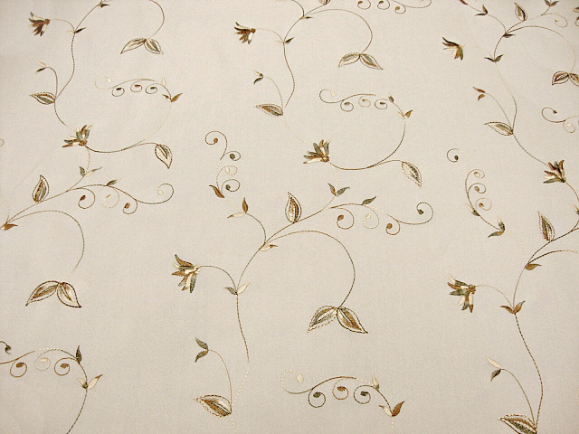 Beautiful Embroidered Ivory Georgette Fabric