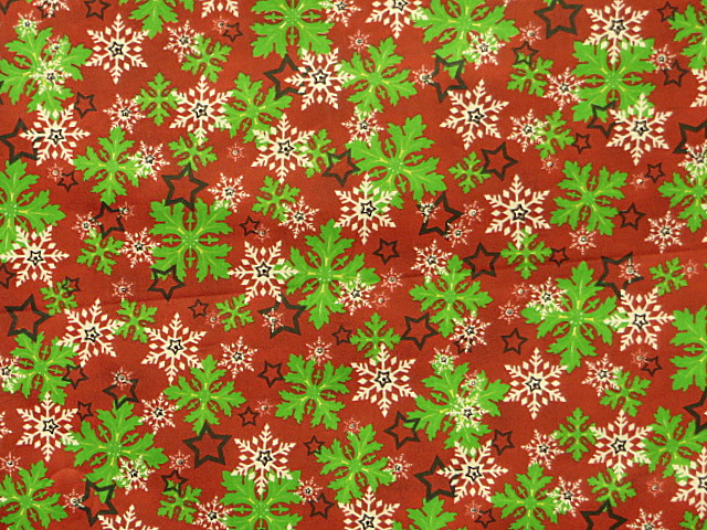 Holiday Snowflakes Cotton Print Fabric