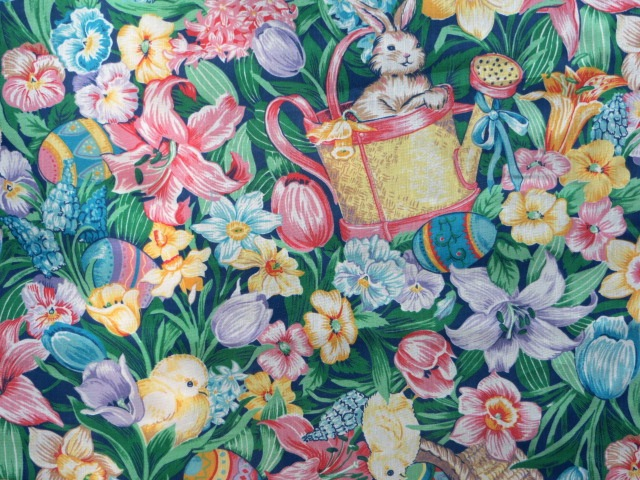Easter Holiday Cotton Print Fabric