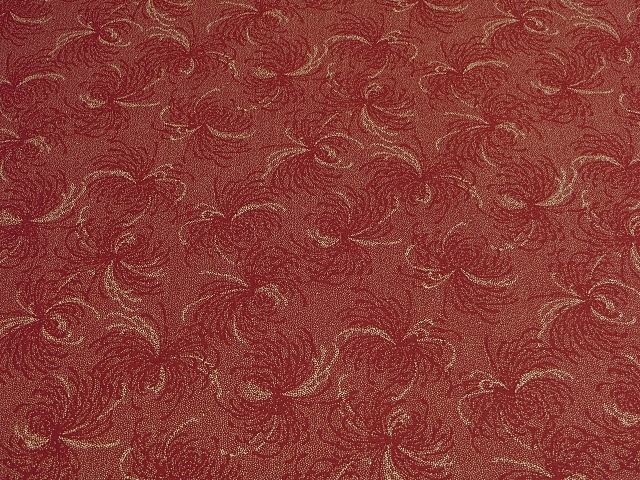 Red/Ivory Window Treatment & Home Accents Fabric