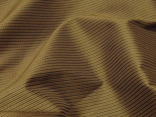 Golden Olive Striped Fabric
