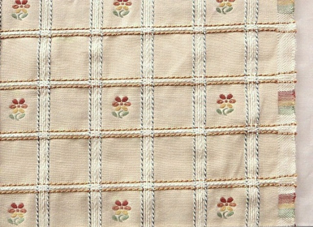 Natural Tone Embroidered Upholstery Fabric Natural Tone Embroidered