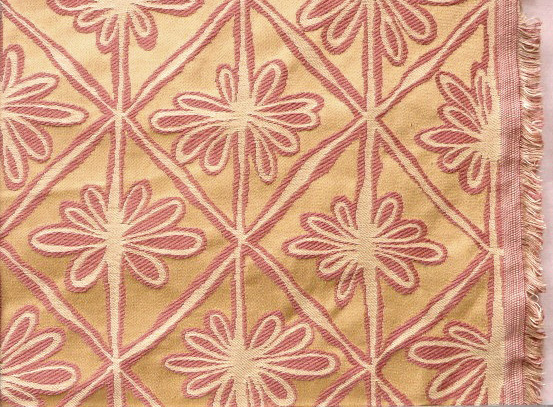 Gold/Coral Palm Trees Heavy Upholstery Fabric