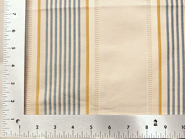 Blue/Gold Striped Upholstery Fabric
