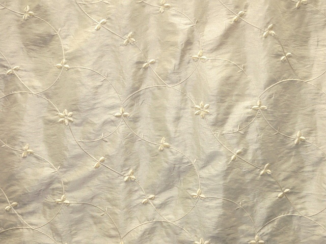 Ivory Embroidered Taffeta