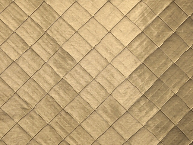Tan Pintuck Taffeta Fabric