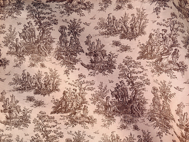 Pink/Brown French Toile Fabric