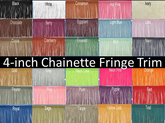4-inch Chainette Fringe Trim-31 Colors