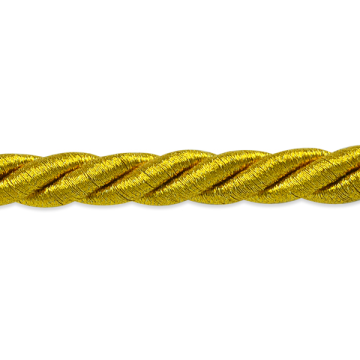 3/8 inch Metallic Antique Gold Twisted Cord Trim