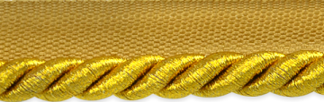 3/8 inch Metallic Antique Gold Twisted Lip Cord Trim