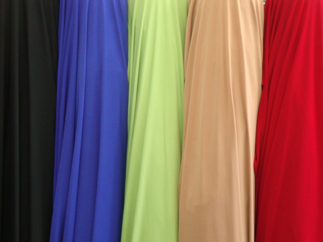 Stretch Jersey Knit/Spandex Fabric Solid