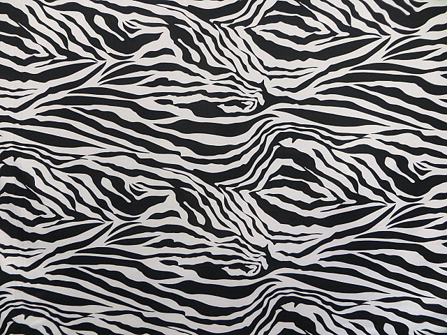 Black/White Zebra Print Fabric Knit