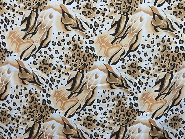 Cotton Knit Animal Print Fabric