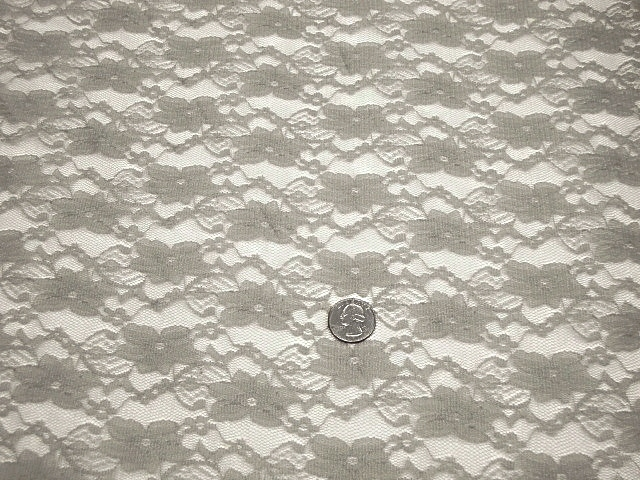 Light Gray Stretch Lace Fabric